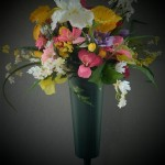 large vase spring flowers