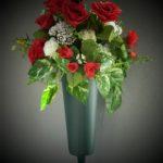 summer vase roses