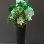 custom. vase .insert carnations