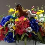 custom.spring flowers and horses