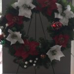 winter.wreath pine decorated