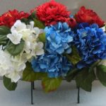 saddle spray peonies hydrangeas